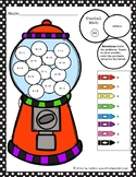 Gumball Math Coloring Worksheet Addition to 9