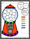 Gumball Math Coloring Worksheet Subtraction within 5 v2