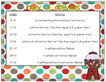 Gumball Math Cut & Paste Enrichment Activities