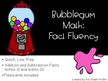 Gumball Math Facts Fluency : An Incentive Program