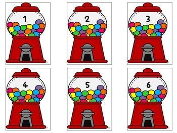 Gumball Math Matching Card Game