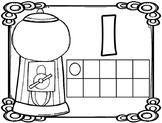 Gumball Math Playdough Mats