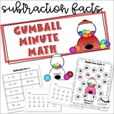 Gumball Math (Timed Subtraction Drills)