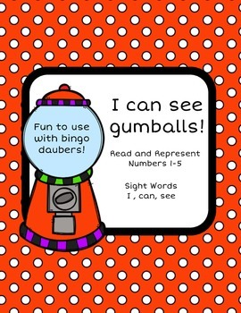 Gumball Math and Sight Word Reader