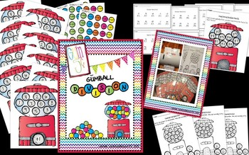 Gumball Math for Addition, Subtraction, Multiplication and Division Math Centers