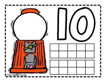 Gumball Math/Ten Frame Placemats