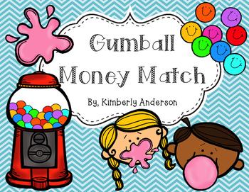Gumball Money Match Practice Activity