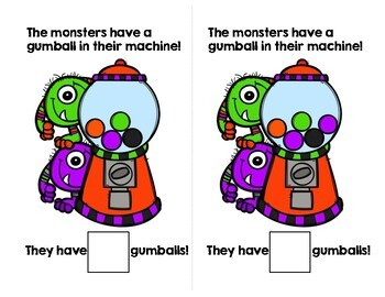 Gumball Monster Adapted Book (Counting 1-10)