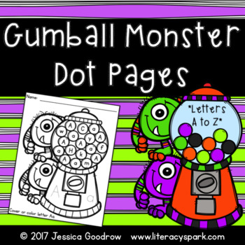 Gumball Monster Dot Pages {Letters A-Z}