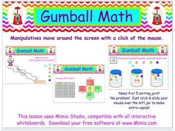 WHITEBOARD Gumball Morning Calendar Math Activities