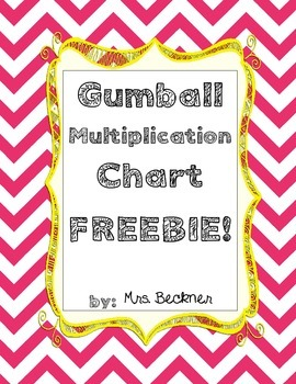 Gumball Multiplication Chart