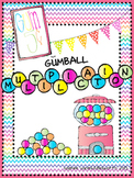 Gumball Multiplication Math Facts for Math Centers