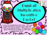 Gumball Multiplication Packet ~ An Incentive Program to Learn Facts!