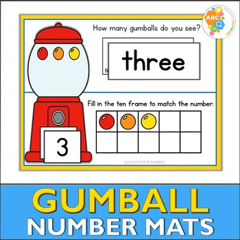 Gumball Number Activity Mats 1-10 by Intuitive Thinkers | TpT