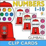 Gumball Number Clip Cards 0-10