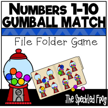 Numbers 1 - 10 File Folder Game