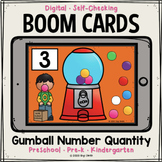 Gumball Number Quantity Boom Cards™ | Distance Learning