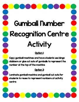 Gumball Number Recognition