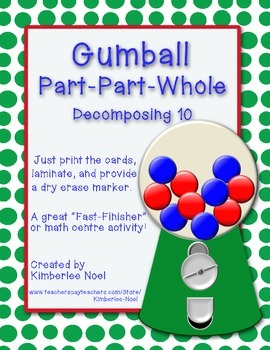 Gumball Part-Part-Whole - Decomposing 10