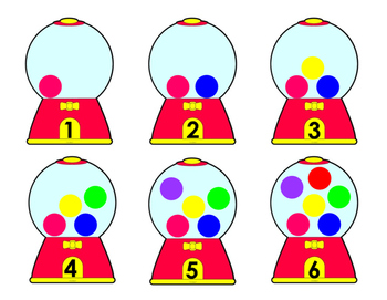 Gumball Play Doh Number Cards