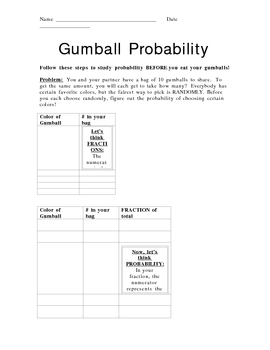 Gumball Probability Lesson