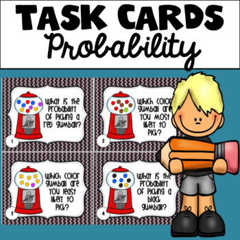 Gumball Probability Task Cards