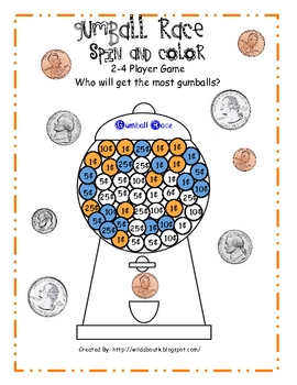 Gumball Race and Color Money Game