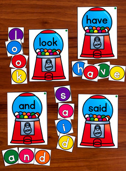 Gumball Sight Words EDITABLE {Includes Dolch Lists}