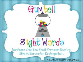 Gumball Sight Words- Scott Foresman Kindergarten