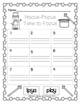 Sight Word Scramble-Hocus-Pocus
