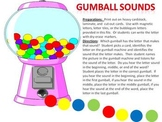 Gumball Sounds - a beginning, middle, and ending sound game