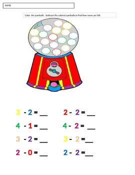 Gumball Subtraction Game