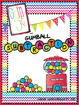 Gumball Subtraction Math Facts for Math Centers