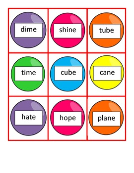 Gumball Syllable Sort - Closed and VCE Syllables