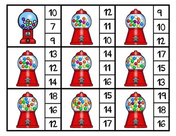 Gumball Theme Math and Literacy Centers