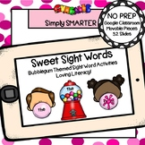 Gumball Themed Beginning Sight Word Building Activities Fo