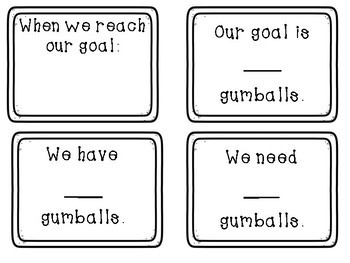 Gumball Themed Whole Class Incentive/Reward System