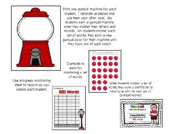 Gumball Words BUNDLE 4!  Common Core Word Activities