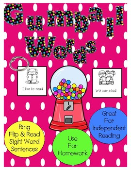 Gumball Sight Words Picture Cards