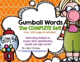 Gumball Words: The COMPLETE Set! Common Core Word Activities