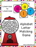 Gumball letter matching game-lowercase to lowercase