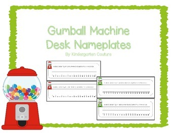 Gumball machine Desk Name Plates