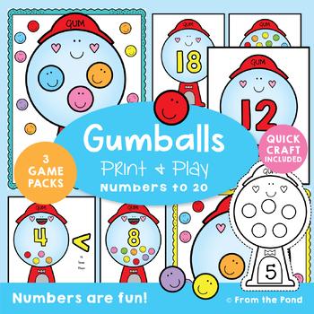 Number Sense Activities {Gumballs}