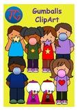 Gumballs and Kids Clip Art
