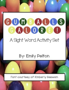 Gumballs Galore! A Sight Word Activity Set