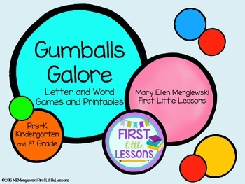 Gumballs Galore Letter And Word Games and Printables