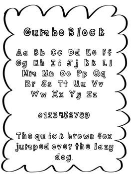 FREE font - Gumbo Block Font