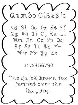 FREE font - Gumbo Classic Font