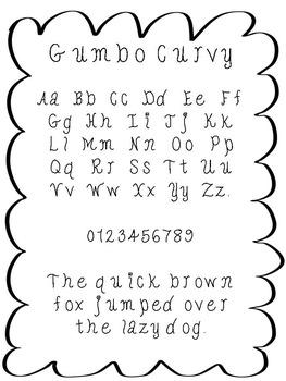 FREE FONT - Gumbo Curvy Font