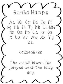 FREE FONT - Gumbo Happy Font